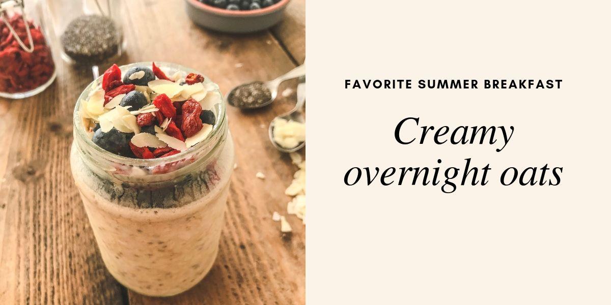 Creamy over night oats