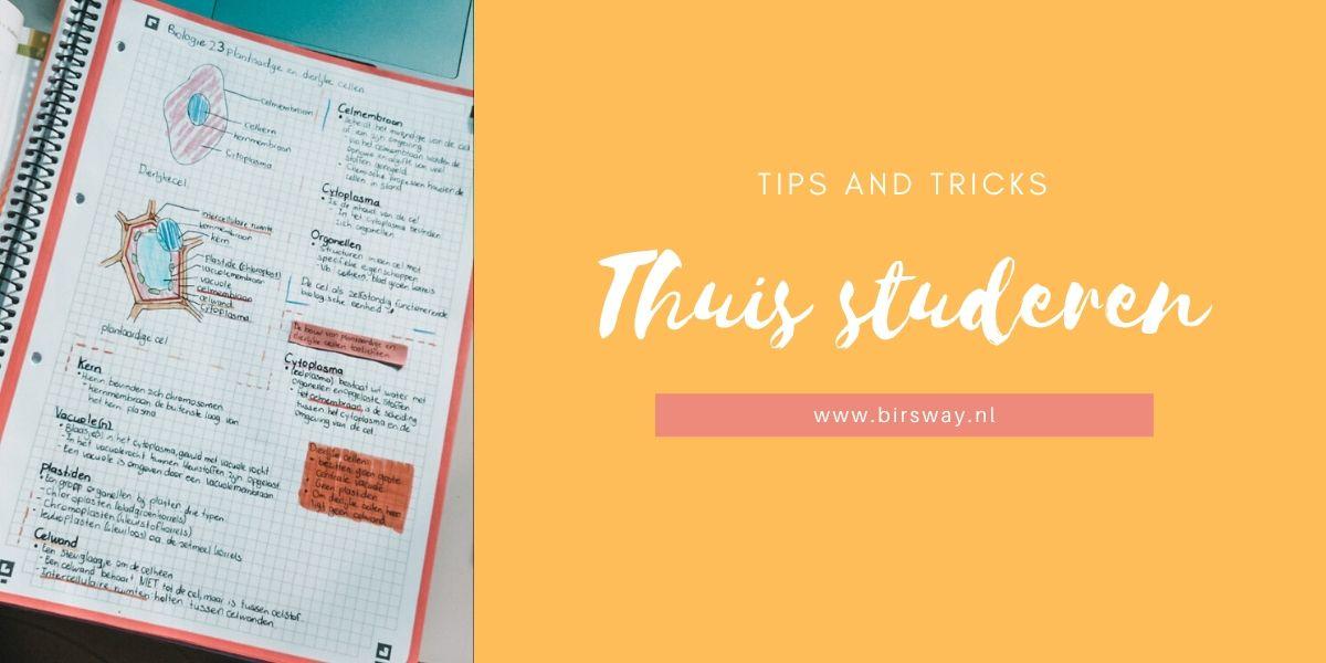 Thuis studeren