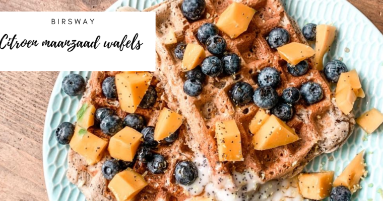 Citroen maanzaad wafels – vegan (lemon poppyseed waffles)